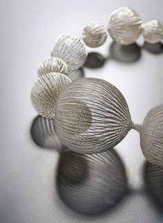 Necklace, conceptual jewelry made by Sowon Joo (Korea).