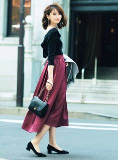 30 new ideas for dress winter maxi skirt outfits Japan Fashion, Women's Summer Fashion, Girl Fashion, Fashion Looks, Fashion Outfits, Womens Fashion, Fashion Design, Fashion Trends, Ladies Fashion