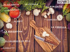 Learn spanish words with this desktop wallpaper. DOWNLOAD FOR FREE: http://www.hispanico.pl/tapeta-edukacyjna-warzywa // #Hiszpania #tapeta #pulpit #spain #spanish #espanol #espana #wallpaper #desktop #words #learn #vegetales #vegetables #verduras