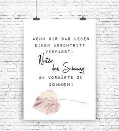 """""""Wenn dir das Leben"""" Kunstdruck  von MilaLu auf DaWanda.com"""