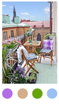 The best balcony decoration samples in this gallery. These beautiful balcony ideas will inspire you really. If you were tired of your old balcony design, Small Balcony Design, Small Balcony Garden, Small Terrace, Outdoor Balcony, Small Patio, Outdoor Spaces, Outdoor Living, Outdoor Decor, Balcony Ideas