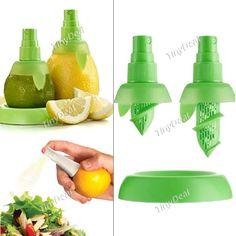 2pcs Creative Fruit Spray Tool Juice Juicer Lemon Sprayer Kitchen Tools HKI-170135