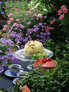Tea:  Secret garden #tea party.