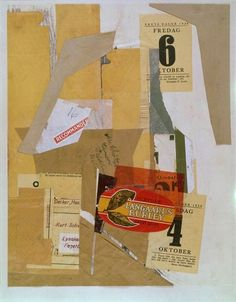 Kurt Schwitters, untitled collage, 1939.