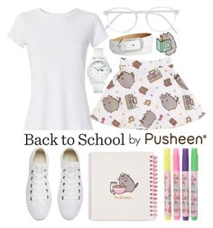 """""""#PVxPusheen"""" by j-n-a ❤ liked on Polyvore featuring Lacoste, Pusheen, RE/DONE, Converse, RetroSuperFuture, Style & Co., contestentry and PVxPusheen"""