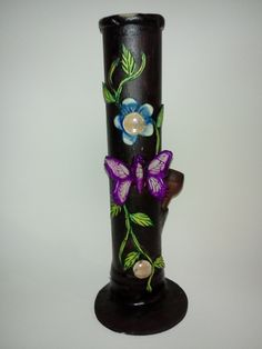 Beautiful Large Butterfly Pipe  This gorgeous, large smoking pipe is embellished with outstanding details. Totally original $49.95