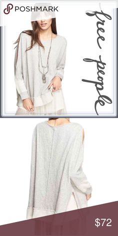 Free People Dandelion Pullover ➖BRAND: Free People ➖SIZE: XS ➖STYLE: Dandelion Pullover ; has a boat neckline as well as a cold shoulder / cut out detail style from the shoulder down past the elbow where it ends in a banded cuff . The entire pullover / sweater has an all over seam detail.  ➖Overall pullover has an all over seam detail. Free People Sweaters