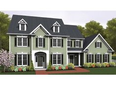 House Plan 92374 | Colonial Plan with 2097 Sq. Ft., 4 Bedrooms, 3 ...