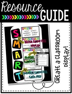Create a SMART Goal Classroom Display to help your higher order ...