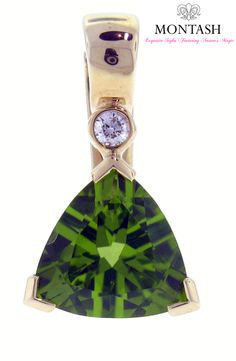 The colour of individual #peridot gems can vary from yellow—to olive—to brownish-green. The most valued colour is a dark #olive-green. #montashjewellerydesign