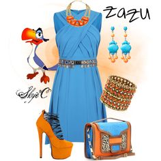 Outfit inspired by the character Zazu from Disney's The Lion King. Disney Themed Outfits, Anime Inspired Outfits, Disney Inspired Fashion, Character Inspired Outfits, Disney Dresses, Disney Clothes, Disney Fashion, Casual Cosplay, Cosplay Outfits