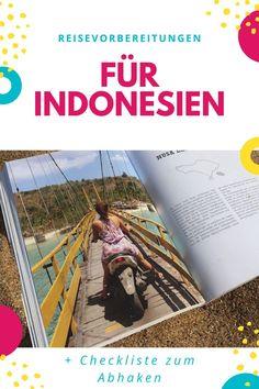 Du hast dich zu einem Urlaub in Indonesienentschieden? Wunderbar. Dann kannst du jetzt mit deinen Indonesien Reisevorbereitungen beginnen. Und damit du nichts wichtiges vor deiner Indonesien Reise vergisst, haben wir hier für dich den ultimativen Vorbereitung-Guide – Visum, Rucksack, Packliste, Reiseequipment, Unterkunft buchen und vieles mit. Inklusive Checkliste zum Abhaken! #indonesienbackpacking #indonesienreise #indonesienpackliste Bali Lombok, Travel Tips, Travel Hacks, Messages, City, Nature, Outdoor, Yoga, Naturaleza