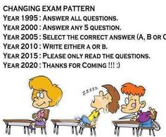 Changing Exam Pattern Year