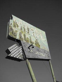 Old motel sign. Globe, Arizona.  www.ladybegooddesigns.com