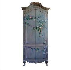 Painteddoor Baroque, Painted Wardrobe, Painted Branches, Houses In France, Decorative Screens, Paint Effects, Painted Doors, Painting Techniques, My Room