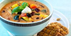 Fire varmende høstsupper Cheeseburger Chowder, Hummus, Pesto, Thai Red Curry, Cantaloupe, Fruit, Ethnic Recipes, Desserts, Soups