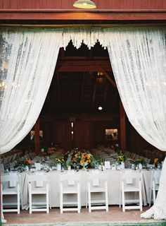 Such a crazy gorgeous setting. Photography: Trent  Dara of Trent Bailey Photography - www.trentbailey.com  Read More: http://www.stylemepretty.com/2014/06/17/rustic-upstate-new-york-farm-wedding/
