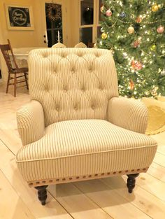 Mimi's Vintage Charm: my Christmas surprise... Chas Armchair from Pier 1 Imports