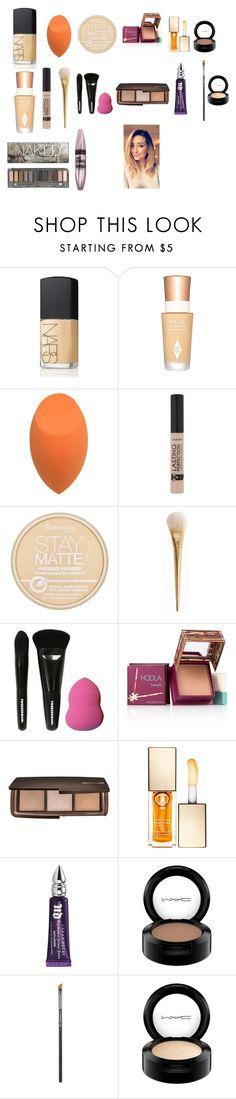 """Zoella - Festive Makeup Look!"" by zoellaispretty on Polyvore featuring beauty, NARS Cosmetics, Charlotte Tilbury, Rimmel, Tweezerman, Benefit, Hourglass Cosmetics, Clarins, Urban Decay and MAC Cosmetics"