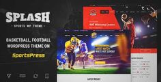 Download and review of Splash - Basketball, Football, Sports WordPress Theme, one of the best Themeforest Non-profit themes