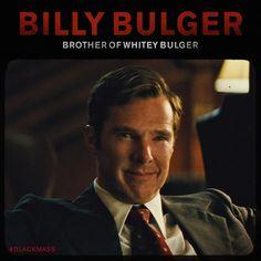 BLACK MASS ~ Benedict Cumberbatch as Billy Bulger, brother of Whitey Bulger, played by Johnny Depp. Mass Movie, Benedict Cumberbatch Movies, Gangster Movies, Mafia Families, Black Mass, Martin Freeman, The Godfather, Pulp Fiction, Johnny Depp