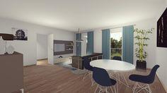 Appartement 3 pièces situé au 1er étage.