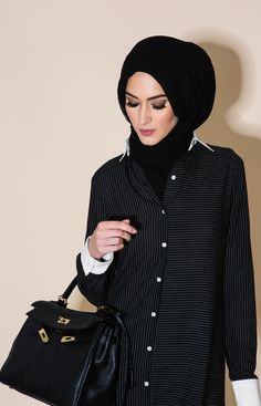 Perfect Pinstripe Shirt Dress | Aab