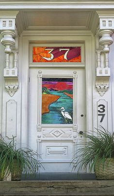 Stained Glass Door Photograph by Dave Mills