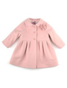 Elegant light old pink Il gufo baby girl coat