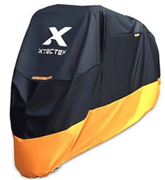 XYZCTEM Motorcycle Cover – All Season Waterproof Outdoor Protection – Precision Fit for 108 inch Tour Bikes, Choppers and Cruisers – Protect Against Dust, Debris, Rain and Weather(XXL,Black& Orange) by XYZCTEM - airtoolsdepot Motorcycle Cover, Bike Cover, Scrambler Motorcycle, Motorcycle Gear, Motorcycles, Motorcycle Accessories, Motorcycle Cleaner, Cafe Racer Build, Choppers