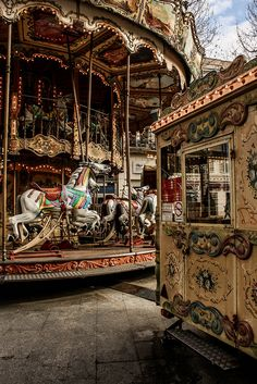 This was such a beautiful little Carrousel...so fairytale-like | Carrousel, Place Général de Gaulle Marseille France