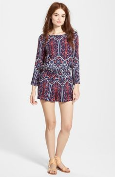 Ella Moss 'Flora Vista' Print Romper available at #Nordstrom