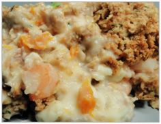 Fish pie with dill and oat crumble