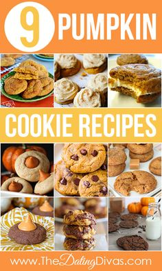 A collection of the BEST pumpkin cookie recipes. Oh holy YUM!