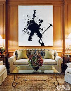 Traditional Living Room by David Kleinberg Design Associates and Nasser Nakib Architect in New York, New York