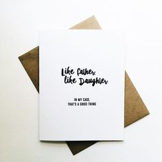 like father, like daughter...in my case that's a good thing #fathersday | $4 jack + ella paper