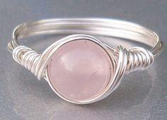 Rose Quartz Sterling Silver Ring - Anja's Arts