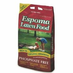 Espoma ELF20 20-Pound Organic All Season Lawn Food by Espoma. Save 13 Off!. $30.36. Two to four times the coverage of natural lawn foods. All season lawn food. 18-0-3 formula. Safe to use. Rapid greening plus long term feeding. Espoma elf20 20-pound organic all season lawn food