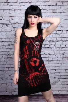 Zombie Killer 13 Tank Dress :: VampireFreaks Store :: Gothic Clothing, Cyber-goth, punk, metal, alternative, rave, freak fashions