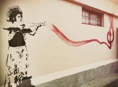 Oaxaca de Juarez, Mexico - home of some of Mexico's best stencil art Best Graffiti, Street Art Graffiti, Mural Wall Art, Framed Wall Art, Butterfly Wall Art, Geometric Wall Art, Arte Popular, Stencil Art, Wall Art Pictures