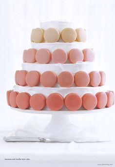 Requesting this for my next birthday cake - but with green or purple macaroons instead.