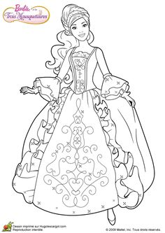 Barbie and Three Musketeers. Barbie coloring page.199