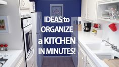 Even if you're renting, you can organize your kitchen with these quick & easy DIY ideas