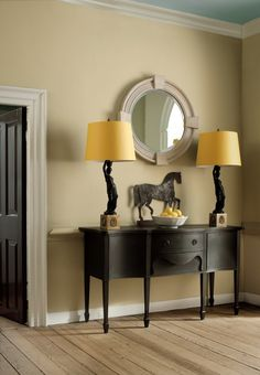 Benjamin Moore Williamsburg stone for walls- Great Neutral Wall color