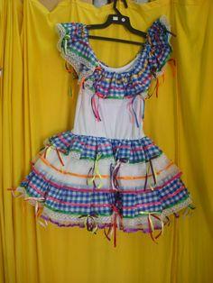 Vestido caipira adulto