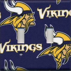 Hey, I found this really awesome Etsy listing at https://www.etsy.com/listing/191769001/minnesota-vikings-double-light-switch