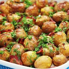Grilled Herb Baby Potatoes...  This surprisingly delicious recipe always gets so much praise from friends and family. Make sure that you make enough, because it's very easy to come back for second servings! Food truly is one of lifes joys.