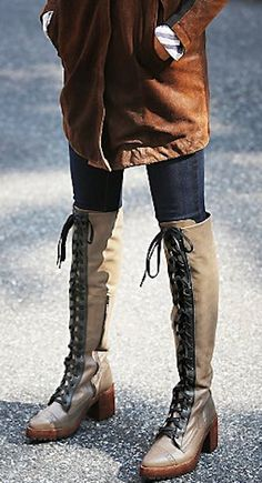 knee high military boots