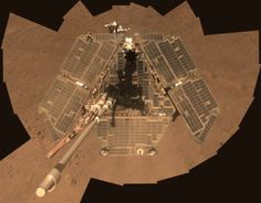 This self-portrait of NASA's Mars Exploration Rover Opportunity shows effects of wind events that had cleaned much of the accumulated dust off the rover's solar panels. It combines multiple frames taken by Opportunity's panoramic camera (Pancam) through three different color filters from March 22 to March 24, 2014, the 3,611th through 3,613th Martian days, or sols, of Opportunity's work on Mars. http://photojournal.jpl.nasa.gov/catalog/PIA18079