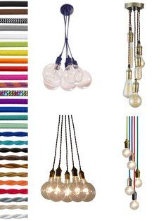 5 Pendant Light Cluster - Hanging Pendant light - Industrial Chandelier - Ceiling Fixture - Antique cloth cord Edison Bulbs or Modern Globes by HangoutLighting on Etsy https://www.etsy.com/uk/listing/205993468/5-pendant-light-cluster-hanging-pendant